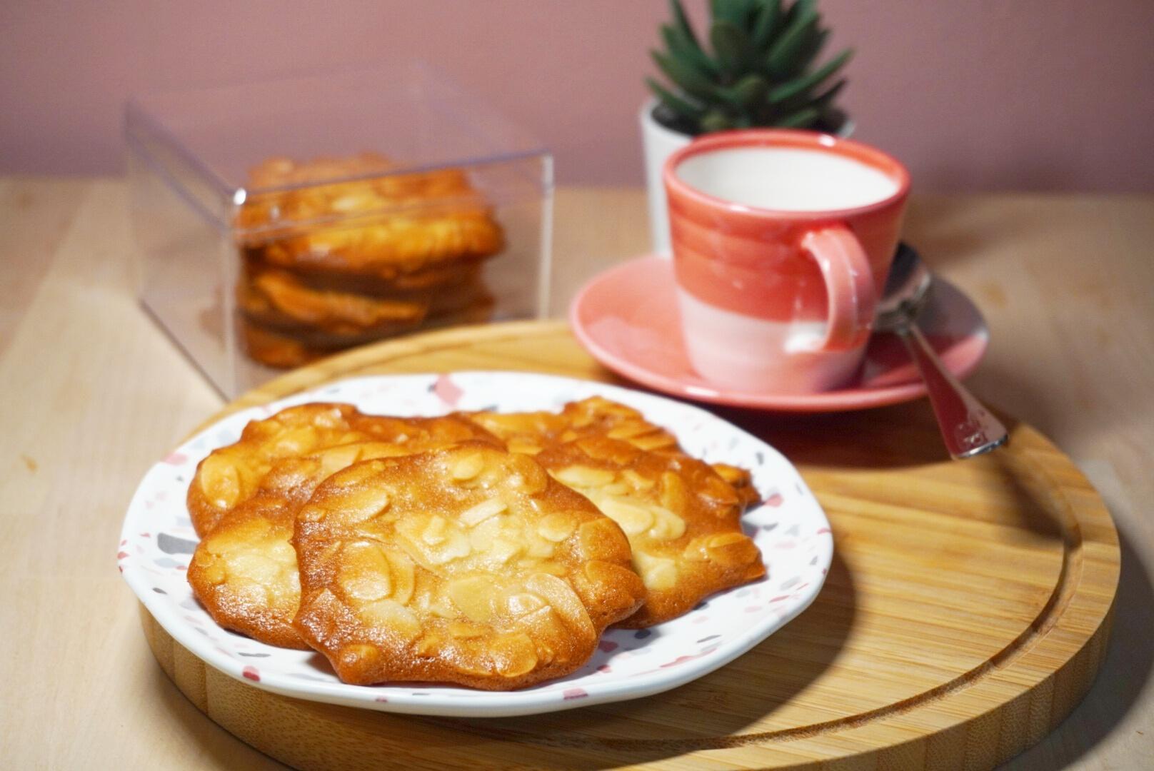 減糖的法式杏仁瓦片,雖然不經典但健康的杏仁餅乾